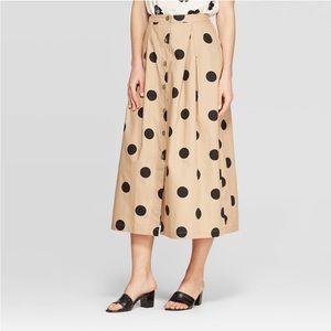 Button Front Full Skirt